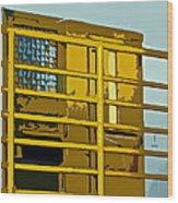 Jail Cell Wood Print