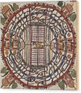 Jain Cosmological Map, 19th Century Wood Print by Library Of Congress, Geography And Map Division