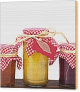 Jam Jelly And Pickle Wood Print by Jane Rix