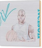 Jameer Nelson Wood Print by Toni Jaso