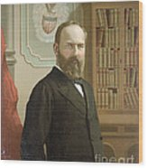 James A. Garfield, 20th American Wood Print