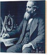James Clerk Maxwell, Scottish Physicist Wood Print