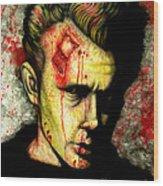 James Dean Zombie Wood Print
