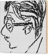 James Grover Thurber Wood Print