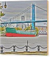 James M Schoonmaker And The Hi-level Bridge Wood Print