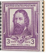 James Russell Lowell Wood Print