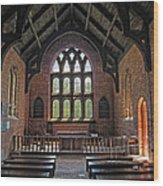 Jamestown Church Interior Wood Print