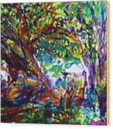 Jamjuree Trees Wood Print