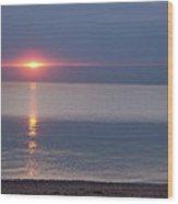Flash Sunset Lake Huron By Jammer Wood Print