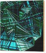 Jammer Swirling Emeralds  Wood Print