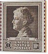 Jane Addams Postage Stamp Wood Print