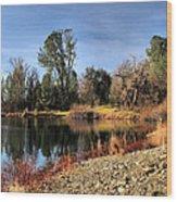 January Bass Pond 2012 Wood Print