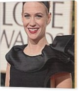 January Jones At Arrivals For The 67th Wood Print by Everett