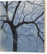 January Night Wood Print