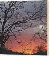 January Sunrise 4 Wood Print