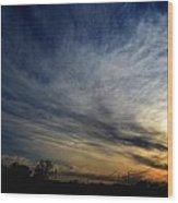 January Sunset 2012 Wood Print