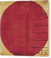 Japan Flag Postcard Wood Print