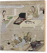 Japan: Kitchen, C1375 Wood Print