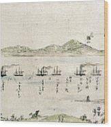Japan: Matthew Perry, 1854 Wood Print