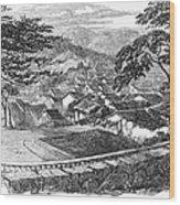 Japan: Nagasaki, 1858 Wood Print