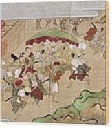 Japan: Peasants, C1575 Wood Print