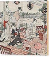 Japan: Restaurant, C1786 Wood Print