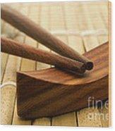 Japanese Chopsticks Wood Print