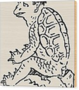 Japanese Folklore: Kappa Wood Print