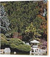 Japanese Friendship Garden . San Jose California . 7d12785 Wood Print