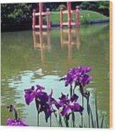 Japanese Garden Brooklyn New York Wood Print