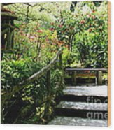 Japanese Garden Retreat Wood Print