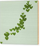 Japanese Islands Made Of Heart-shaped Leaves (ecology Image) Wood Print