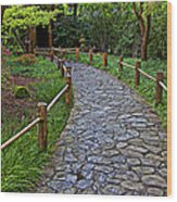 Japanese Tea Garden Path Wood Print