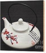Japanese Teapot Wood Print