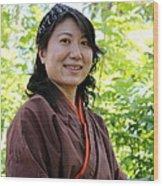 Japanese Women Wood Print
