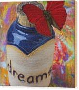 Jar Of Dreams Wood Print