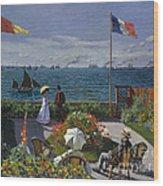 Jardin A Sainte Adresse Wood Print