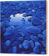 Jasper - Blue Boulders Wood Print