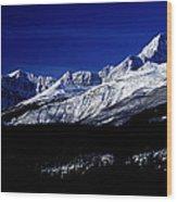 Jasper National Park In Winter Time Wood Print