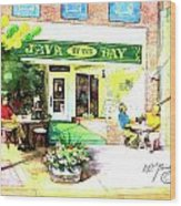 Java By The Bay Wood Print