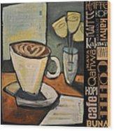 Java Coffee Languages Poster Wood Print