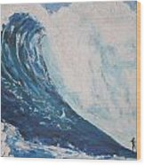 Jaws Peahi Maui Hawaii Wood Print