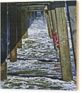 Jax Beach Pier Wood Print