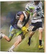 Jaxx Lacrosse 1 Wood Print