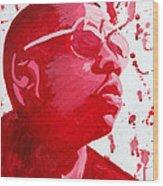 Jay-z Wood Print by Michael Ringwalt