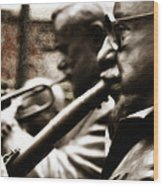 Jazz Legends Al Hirt And Pete Fountain Wood Print