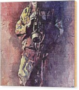 Jazz Miles Davis Maditation Wood Print