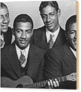 Jazz Vocal Quartet The Mills Brothers Wood Print by Everett