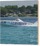 J.d. Byrider Offshore Racing Wood Print