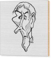 Jean Lamarck, Caricature Wood Print